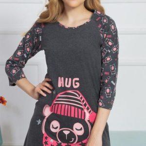Dámská noční košile s tříčtvrtečním rukávem Vienetta Secret Hug