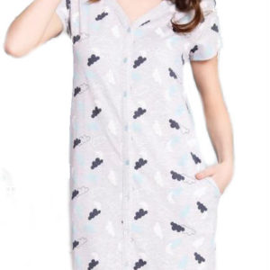 Dámské domácí šaty s krátkým rukávem Vienetta Secret Nebe