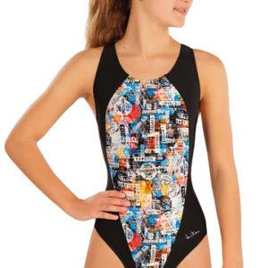 Dívčí jednodílné sportovní plavky Litex 57586