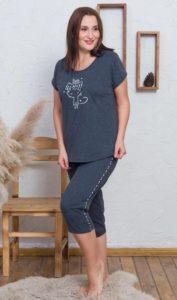Dámské pyžamo kapri Vienetta Secret Lady Cat
