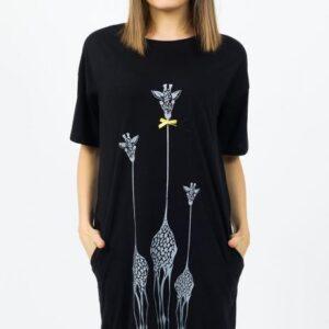 Dámské domácí šaty Vienetta Secret Žirafy